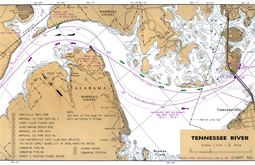 USACE chart Lake Guntersville on the Tennessee River MM357.4